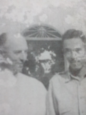 Father Edward Haggerty S.J. with Major Fidencio Laplap after the war.