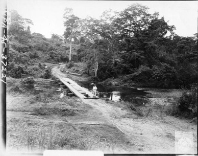 A bridge near Tapel, Gonzaga Cagayan Province, Luzon, Philippines, where eight people were reported to have been killed by the Japanese on or about July 1, 1945.